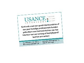 Portfolio item: Usance Interieurs Advertentie